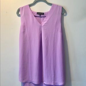 ELOQUII Lilac V-Neck Shell Blouse, Size 14